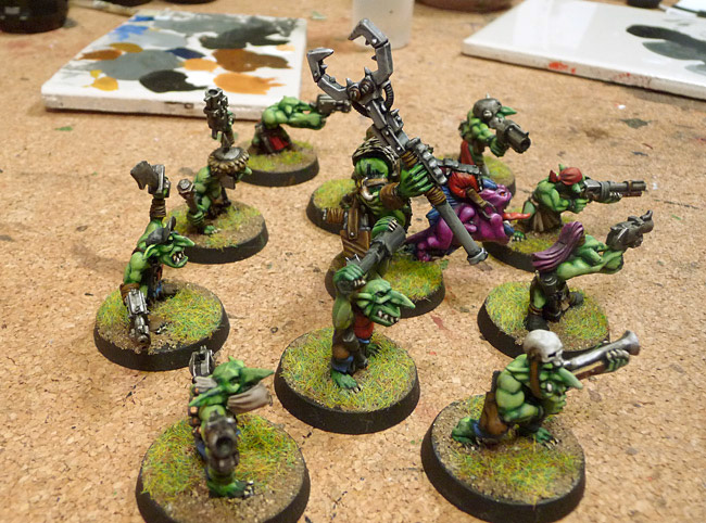 Runtherder with Grot Mob