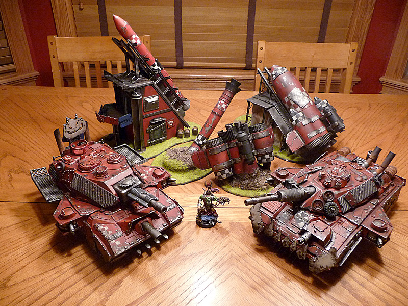 Ork Pulsa Rokkets and Skullammer Tanks